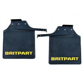 Pair of britpart mudflaps (yellow logo)
