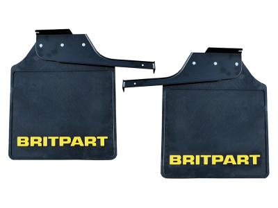 Paire de bavettes arriere avec logo britpart jaune