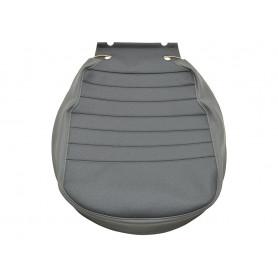 Housse d'assise siège centrale avant centre tissu gris et vinyl sur les cotes
