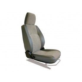 Seat base back & headrest rh charcoal