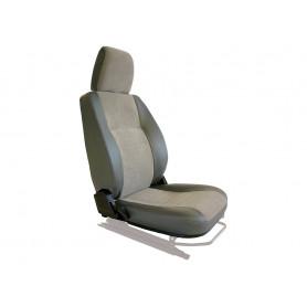 Seat base back & headrest rh charcoal