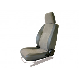 Seat base back & headrest lh charcoal