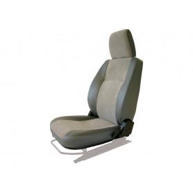 Seat base back & headrest lh charcoal