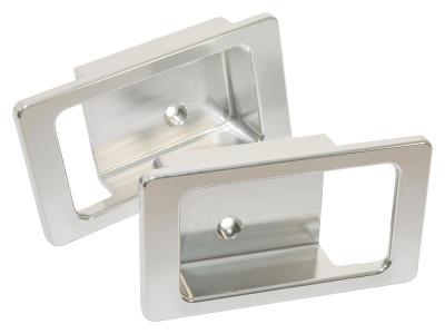 Paire de poignee de porte avant defender en aluminium anodise gris