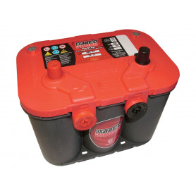 Optima red top battery (side terminals)