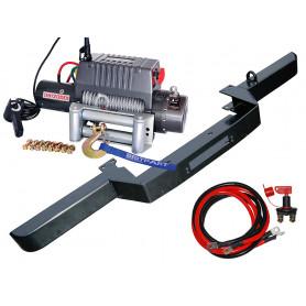 Pare choc simple porte treuil et treuil 5t4 cable acier