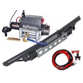 Pare choc tubulaire porte treuil et treuil 4t3 cable acier