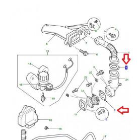 Joint-soupape/tuyau de réaspiration des gaz d'échappement