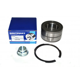 Rear hub bearing nut and circlip