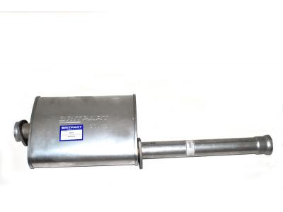 Silencieux intermédiaire pour defender 110 2.5l essence & 2.5l atmo diesel.