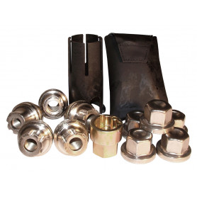 Theft nut kit aluminum wheels defender & discovery 1