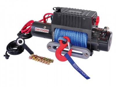 Treuil 12 volts cable dyneema puissance maxi 5448 kg