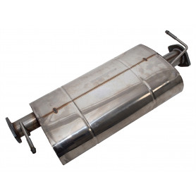 Silencieux intermédiaire pour defender 110 (vin ba266790 ) 2.5l essence & 2.5l atmo diesel.