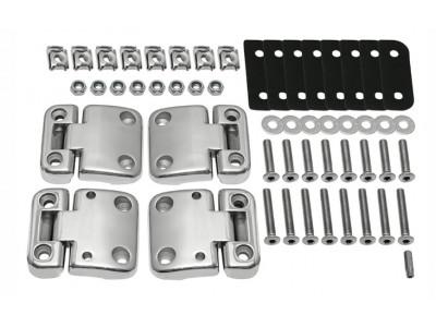 Kit charnieres iNOX complet pour portes avant defender