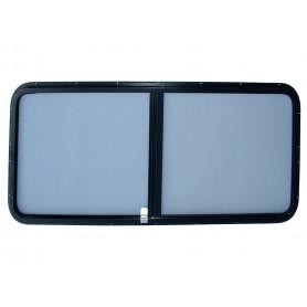Paire de vitre laterale grise